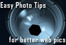Easy Photo Tips for better web pics